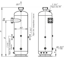 Oil separator. Type A (cyclone type)